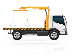 tow truck for transportation faults and emergency cars illustration - stock illustration