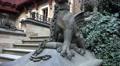 4k Medieval castle stone sculptures and tower tilt shot 4k or 4k+ Resolution