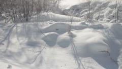 Winter landscape - stock footage