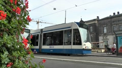 No 14 tram in Amsterdam, Netherlands. Stock Footage