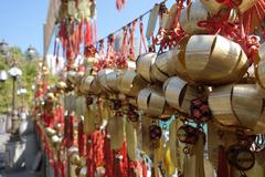 buddhist prosperity bell - stock photo