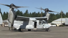 Stock Video Footage of US-MARINE Osprey Aircraft AT Airbase