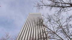 Torre Picasso Building in Madrid Stock Footage