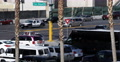 Las Vegas Boulevard Car Passing Traffic Jam Crowded Intersection Busy Street Day 4k or 4k+ Resolution