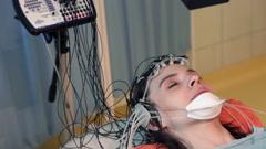 Woman having brain scan in hospital  HD Stock Footage