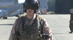 US-MARINE Osprey Aircraft AT Airbase - stock footage