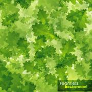 Seamless background with green oak leaves Stock Illustration