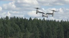 US-MARINE Osprey Aircraft AT Airbase Stock Footage