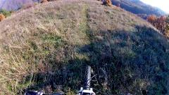 Mountain bike autumn ride hd video - stock video Stock Footage