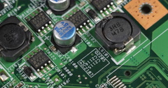 Circuit Board Computer Background Electronic Motherboard Details Server Systems - stock footage