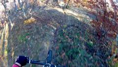Mountain bike downhill extreme stock video Stock Footage