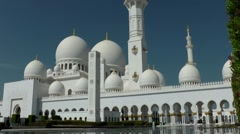 The United Arab Emirates city of Abu Dhabi 010 Sheikh Zayed Grand Mosque - stock footage