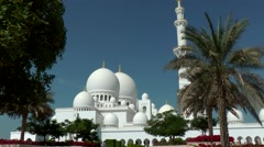 The United Arab Emirates city of Abu Dhabi 013 domes of Sheikh Zayed Mosque Stock Footage