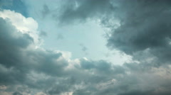 4K Timelapse of storm clouds. Video without birds and defects Stock Footage