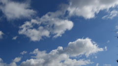 Timelapse of Bright Clouds That Fly Away Stock Footage