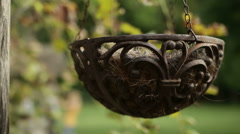 Decorative hanging flower pot Stock Footage