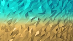 Low Poly 40 seconds loop background Blue Yellow HD - stock footage