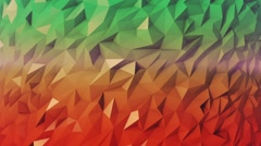 Low Poly 40 seconds loop background Green Red HD - stock footage