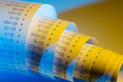 Arithmetic strip of calculator Stock Photos