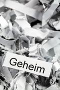 shredded paper keyword secret - stock photo