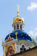 Orthodox annunciation church in pechory Stock Photos