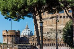 Italy, rome, castel sant'angelo Stock Photos