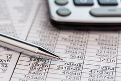 Calculators and statistk Stock Photos