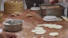 Dumpling Preparation at Din Tai Fung - stock footage
