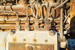 Vintage diesel engine parts Stock Photos
