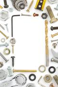 hardware tools  on white - stock photo