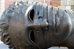 "Cracow, poland - january 6, 2014: sculpture by igor mitoraj ""eros bendato"" on Stock Photos"