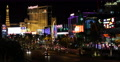 Aerial View Las Vegas Strip Boulevard Rush Hour Night Urban Scene Cars Traffic 4k or 4k+ Resolution