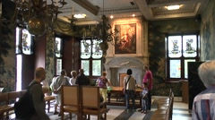 The Trouwzaal (Wedding Hall) in the Stadhuis, Gouda, South Holland, Netherlands. - stock footage