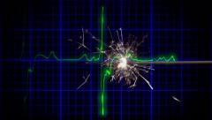 EKG heartbeat fuse spark Stock Footage