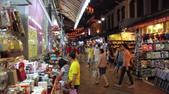A Stroll Through the Clean, Peaceful Alleys in Singapore's Chinatown - stock footage
