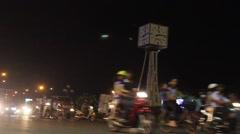 Traffic at Night in Ho Chi Minh City, Vietnam - stock footage