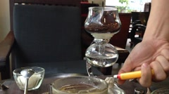 Kopi Luwak Brewing in Vietnamese Coffee Shop Stock Footage