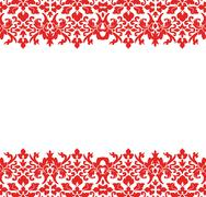 Stock Illustration of damask border