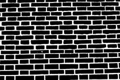 Black brick wall texture background old rough masonry - stock illustration