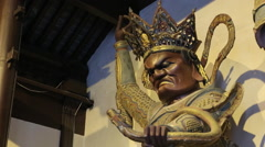 Men's statue in the temple of China Shanghai Stock Footage