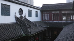 Chinese roof homes Stock Footage