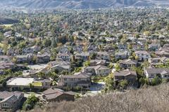 Suburban valley Stock Photos