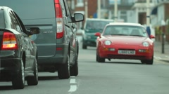 Cars in Eastbourne Stock Footage