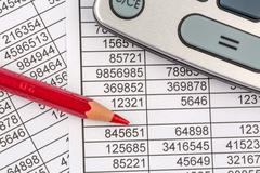 calculators and statistk - stock photo