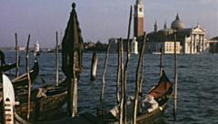 Venice 1955: San Giorgio Maggiore Stock Footage