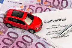 purchase agreement for car - stock photo