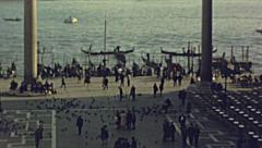 Venice 1955: Riva degli Schiavoni Stock Footage