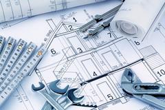 A house plan Stock Photos