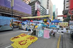 Hong kong activists are fighting for their right to choice for the next chief Stock Photos