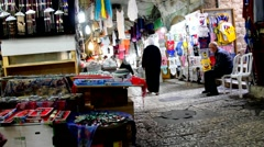In the Arab quarter of ancient Jerusalem Stock Footage